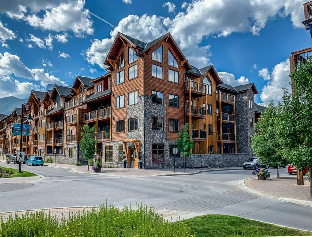 Main Photo: 402 707 Spring Creek Drive: Canmore Apartment for sale : MLS®# A1129987