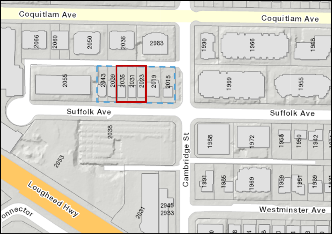 Main Photo: 2023, 2031 & 2035 Suffolk Avenue in Port Coquitlam: Glenwood PQ Land for sale