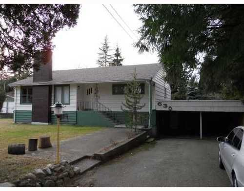 Main Photo: 630 PORTER Street in Coquitlam: Central Coquitlam Home for sale ()  : MLS®# V804567