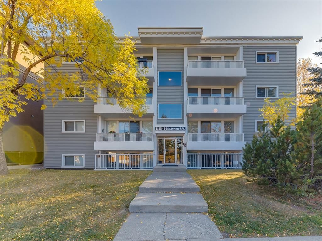 Main Photo: 10 1815 26 Avenue SW in Calgary: South Calgary Apartment for sale : MLS®# A1118467
