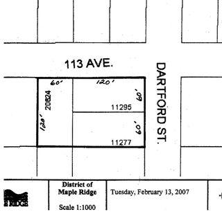 Photo 1: 11277 & 11295 Dartford Street in Maple Ridge: Southwest Maple Ridge Land for sale