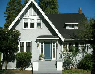 Photo 1: 1029 W 33RD Ave in Vancouver: Shaughnessy House for sale (Vancouver West)  : MLS®# V611982