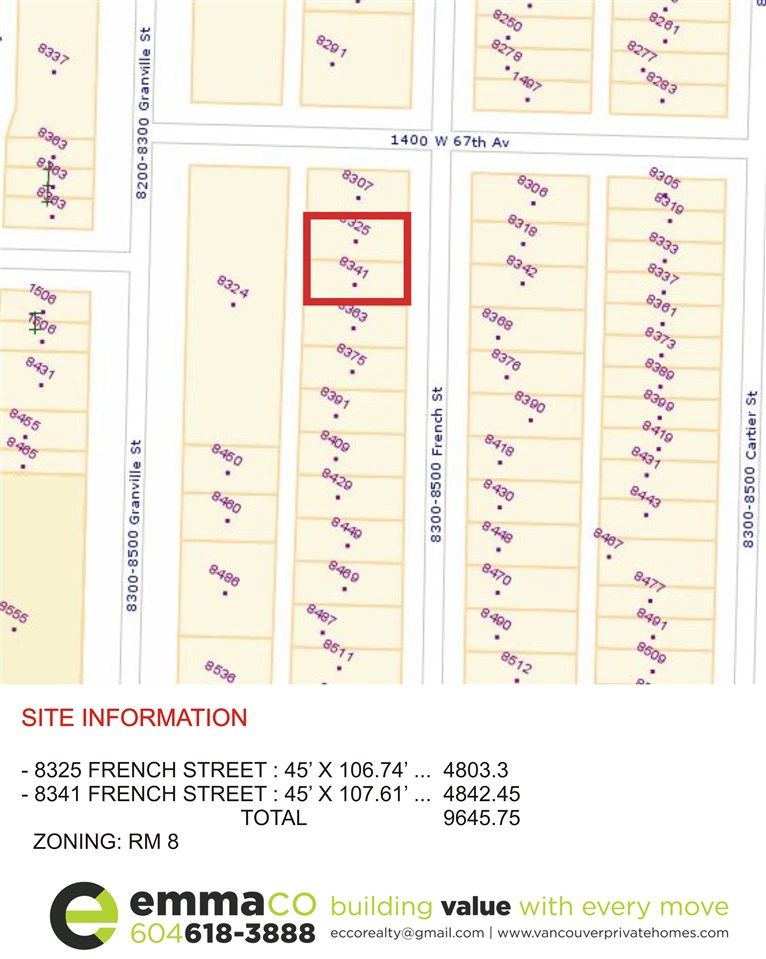"""Main Photo: 8325 FRENCH Street in Vancouver: Marpole House for sale in """"MARPOLE"""" (Vancouver West)  : MLS®# R2104640"""