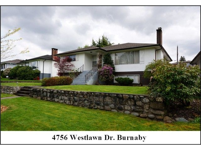 """Main Photo: 4756 WESTLAWN Drive in Burnaby: Brentwood Park House for sale in """"Brentwood Park"""" (Burnaby North)  : MLS®# V1059724"""