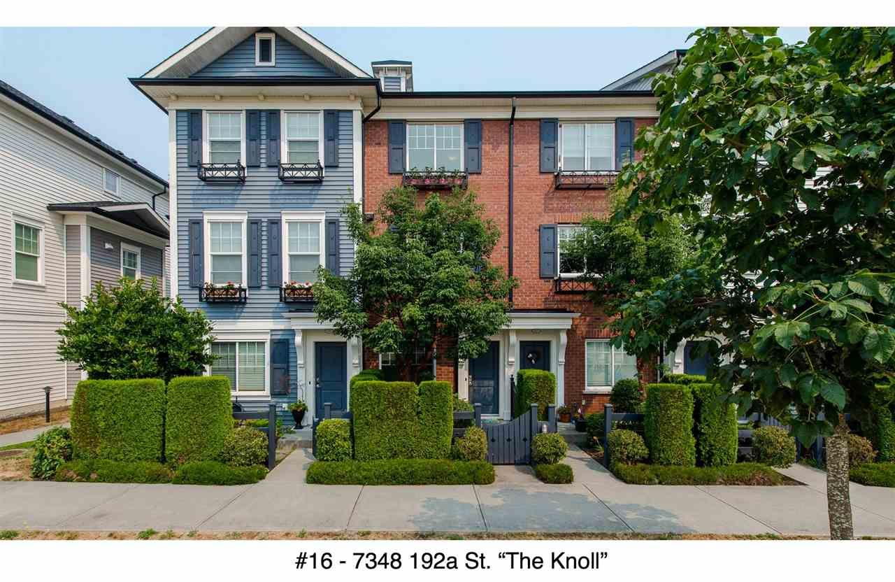 """Main Photo: 16 7348 192A Street in Surrey: Clayton Townhouse for sale in """"The Knoll"""" (Cloverdale)  : MLS®# R2195442"""