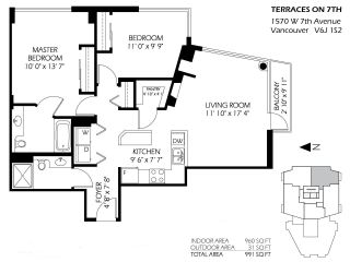 """Photo 19: 1102 1570 W 7TH Avenue in Vancouver: Fairview VW Condo for sale in """"Terraces"""" (Vancouver West)  : MLS®# R2174265"""