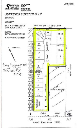 Photo 1: 0 NW 1/4 Section 28 TWP 8 RGE 2 E.P.M. Road in La Salle: R08 Residential for sale : MLS®# 202112422