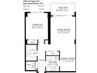 """Photo 10: 503 47 AGNES Street in New Westminster: Downtown NW Condo for sale in """"FRASER HOUSE"""" : MLS®# V1002281"""
