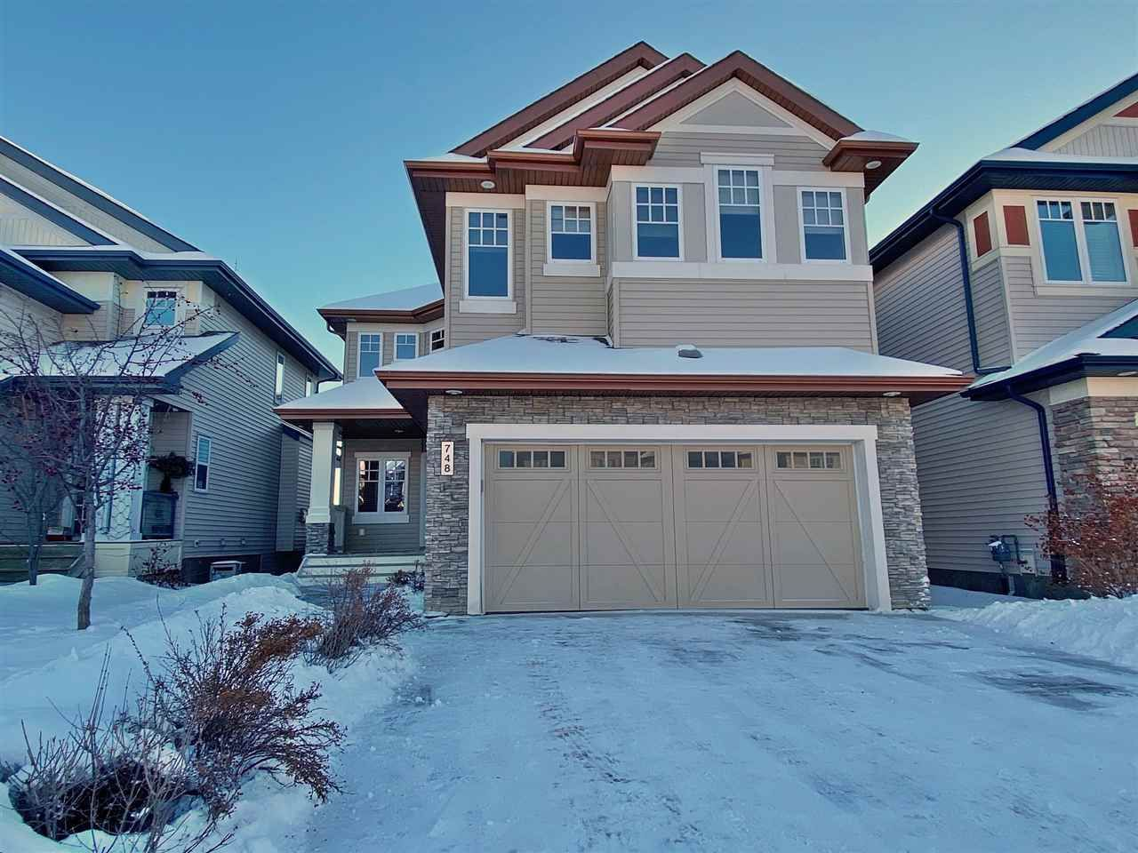 Main Photo: 748 ADAMS Way in Edmonton: Zone 56 House for sale : MLS®# E4228821