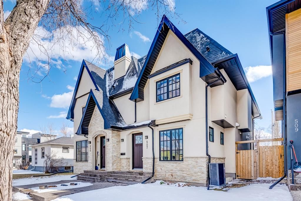 Main Photo: 507 28 Avenue NW in Calgary: Mount Pleasant Semi Detached for sale : MLS®# A1097016