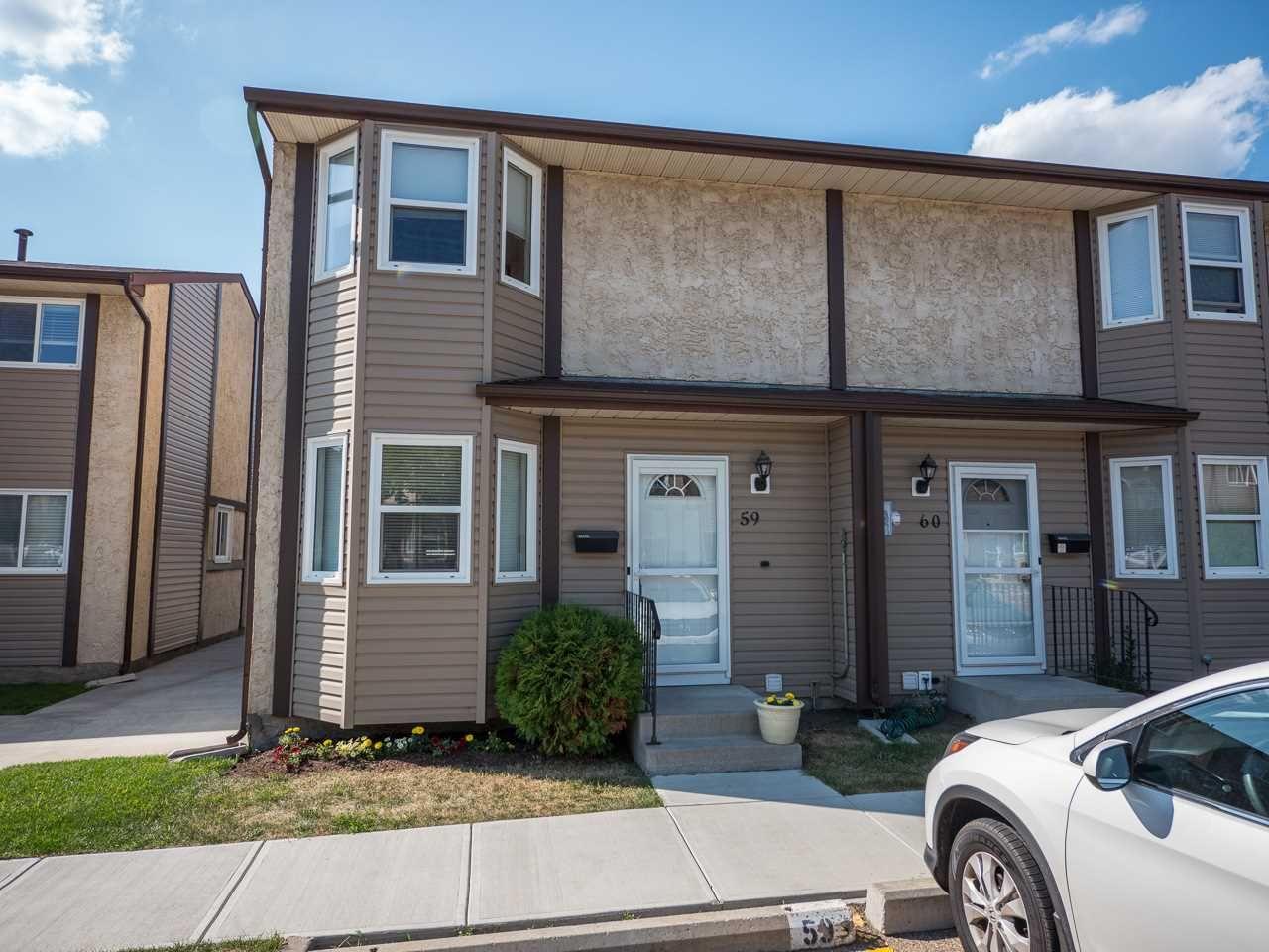 Main Photo: 59 10453 20 Avenue in Edmonton: Zone 16 Townhouse for sale : MLS®# E4241938