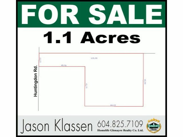 Main Photo: 29700 HUNTINGDON Road in Abbotsford: Aberdeen Land for sale : MLS®# F1415007