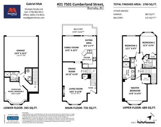 Photo 17: 21 7501 CUMBERLAND STREET in Burnaby: The Crest Townhouse for sale (Burnaby East)  : MLS®# R2486203