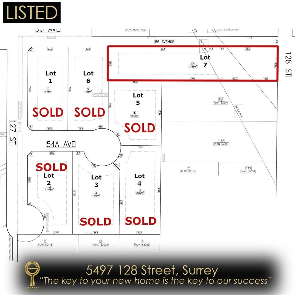 Main Photo: 5497 128 Street: Land for sale in Surrey: MLS®# R2546045
