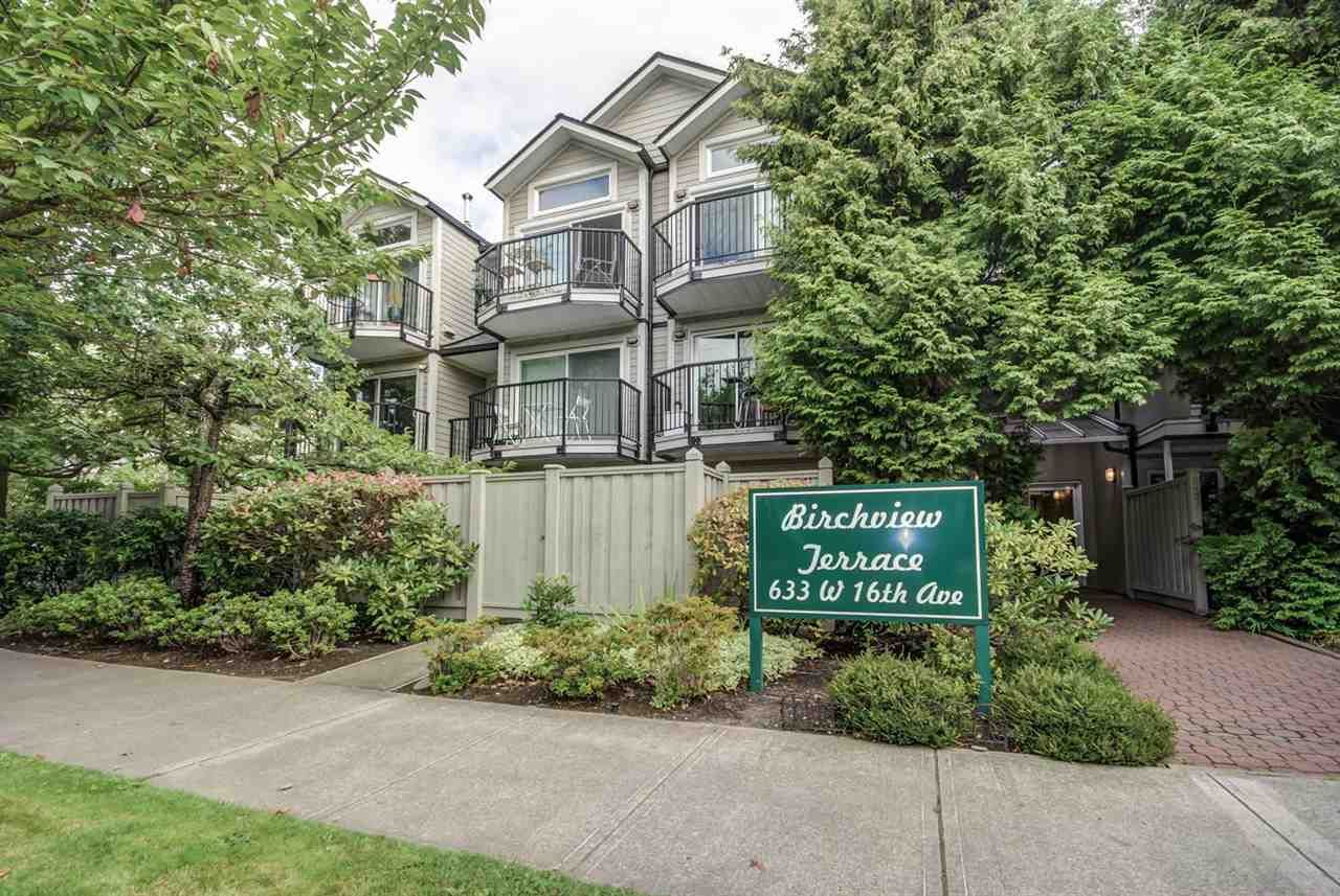 """Main Photo: 203 633 W 16TH Avenue in Vancouver: Fairview VW Condo for sale in """"BIRCHVIEW TERRANCE"""" (Vancouver West)  : MLS®# R2098891"""