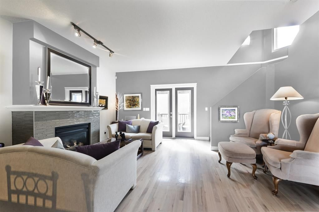 What the main floor would look like if it was painted a light grey color! Currently an Aubergine color.