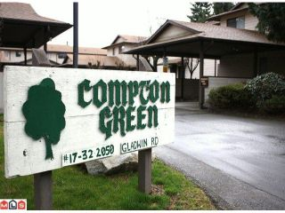 """Photo 9: 20 2050 GLADWIN Road in Abbotsford: Central Abbotsford Townhouse for sale in """"COMPTON GREEN"""" : MLS®# F1108330"""
