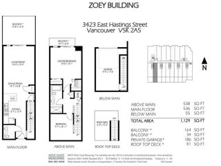 """Photo 35: 317 3423 E HASTINGS Street in Vancouver: Hastings Sunrise Townhouse for sale in """"ZOEY"""" (Vancouver East)  : MLS®# R2572668"""