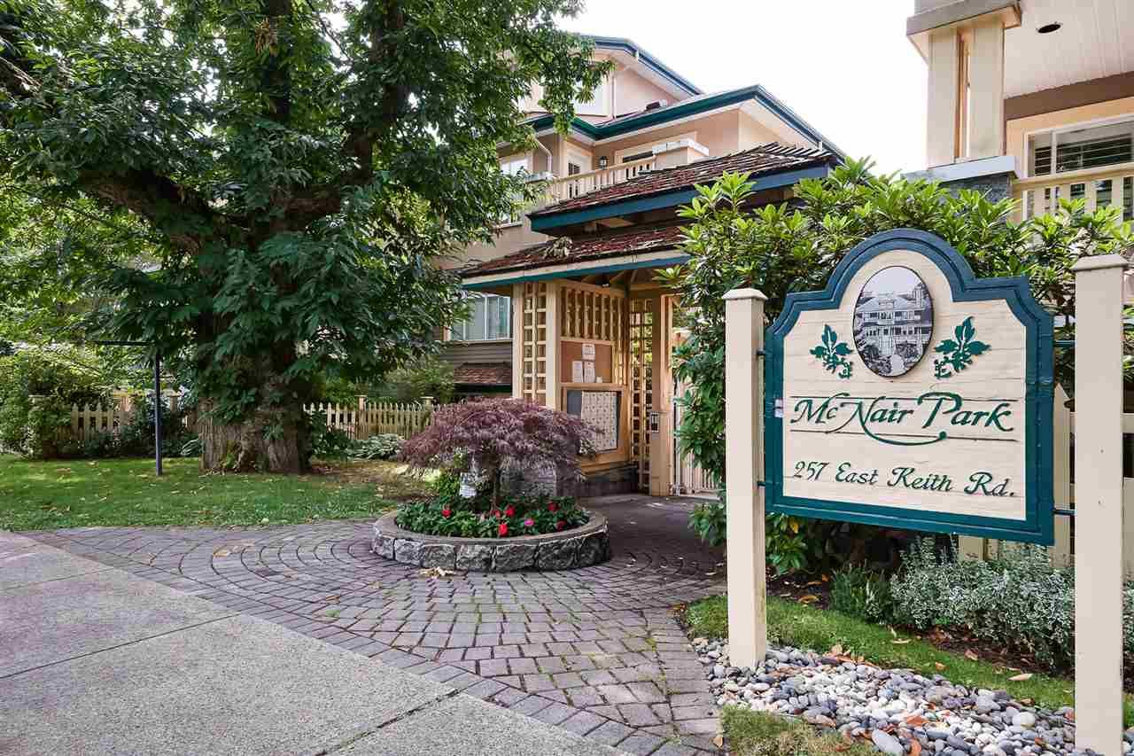 """Main Photo: 206 257 E KEITH Road in North Vancouver: Lower Lonsdale Condo for sale in """"McNair Park"""" : MLS®# R2398513"""