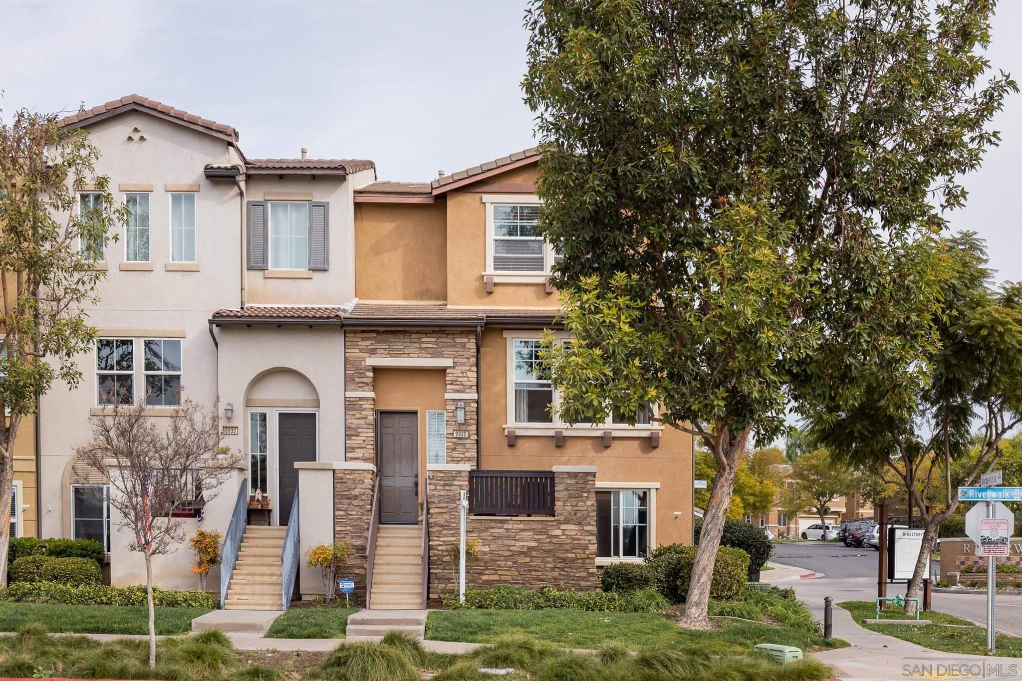 Main Photo: SANTEE Townhouse for sale : 3 bedrooms : 9935 Leavesly Trl