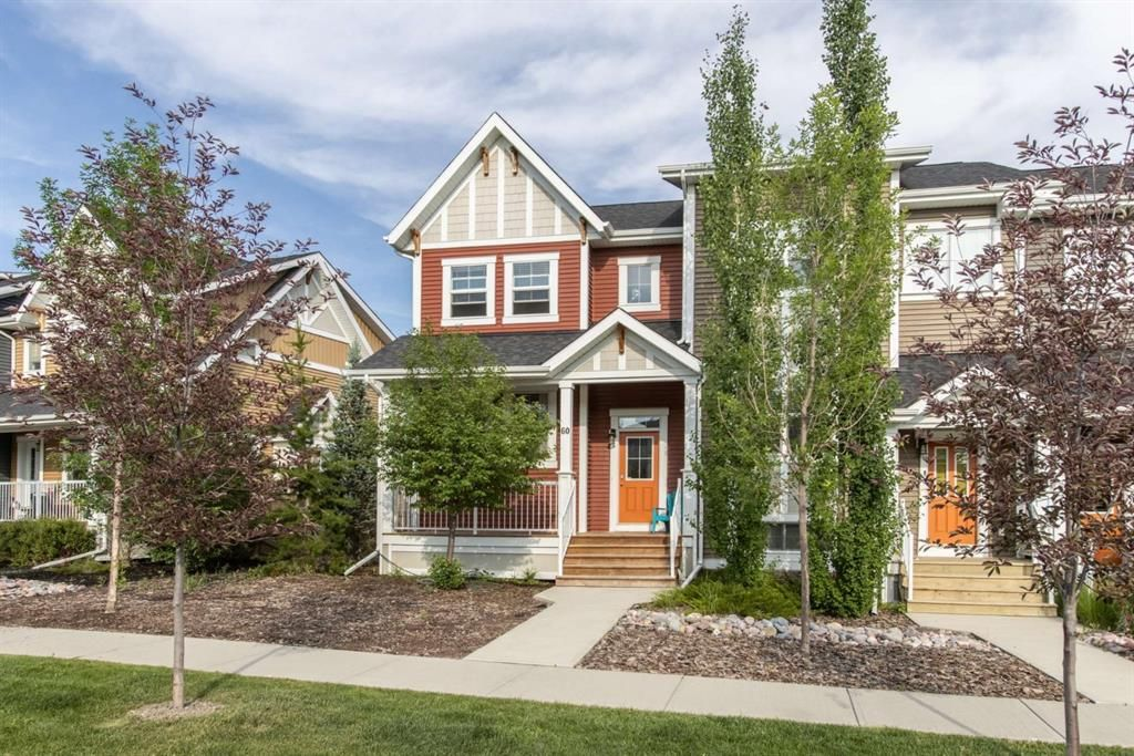 Main Photo: 60 Sunset Road: Cochrane Row/Townhouse for sale : MLS®# A1128537