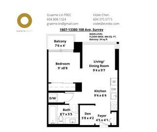 """Photo 21: 1607 13380 108 Avenue in Surrey: Whalley Condo for sale in """"CITYPOINT"""" (North Surrey)  : MLS®# R2529584"""