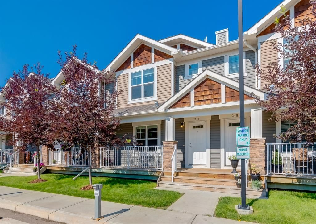 Main Photo: 217 Cranberry Park SE in Calgary: Cranston Row/Townhouse for sale : MLS®# A1127199