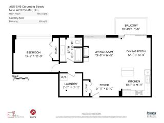 """Photo 17: 511 549 COLUMBIA Street in New Westminster: Downtown NW Condo for sale in """"C2C LOFTS"""" : MLS®# R2129468"""