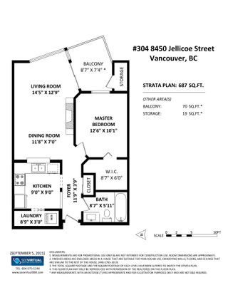 """Photo 24: 304 8450 JELLICOE Street in Vancouver: South Marine Condo for sale in """"Boardwalk"""" (Vancouver East)  : MLS®# R2615136"""