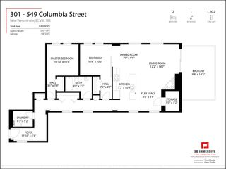 "Photo 33: 301 549 COLUMBIA Street in New Westminster: Downtown NW Condo for sale in ""C2C Lofts"" : MLS®# R2566964"