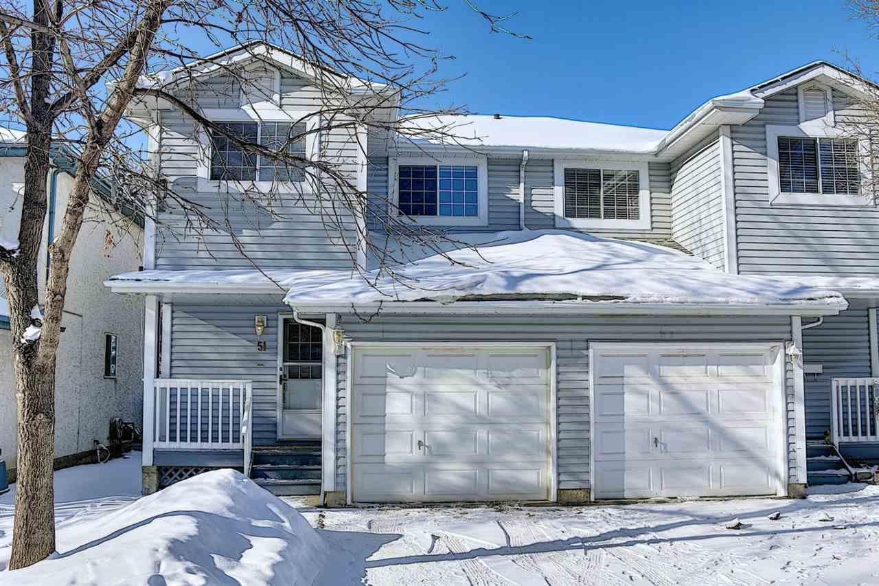 Main Photo: 51 501 YOUVILLE Drive E in Edmonton: Zone 29 House Half Duplex for sale : MLS®# E4228906