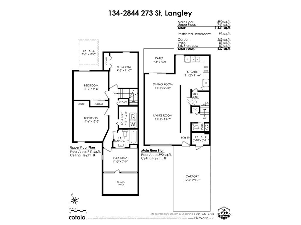 """Photo 30: Photos: 134 2844 273 Street in Langley: Aldergrove Langley Townhouse for sale in """"CHELSEA COURT"""" : MLS®# R2522030"""