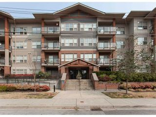"""Photo 1: 416 20219 54A Avenue in Langley: Langley City Condo for sale in """"SUEDE LIVING"""" : MLS®# R2590437"""