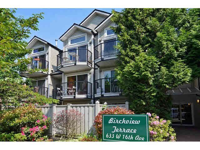 """Main Photo: 106 633 W 16TH Avenue in Vancouver: Fairview VW Condo for sale in """"BIRCHVIEW TERRACE"""" (Vancouver West)  : MLS®# V1125999"""