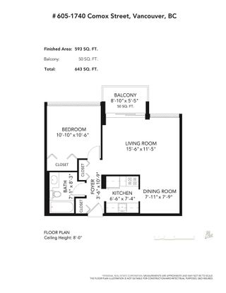 """Photo 27: 605 1740 COMOX Street in Vancouver: West End VW Condo for sale in """"THE SANDPIPER"""" (Vancouver West)  : MLS®# R2574694"""