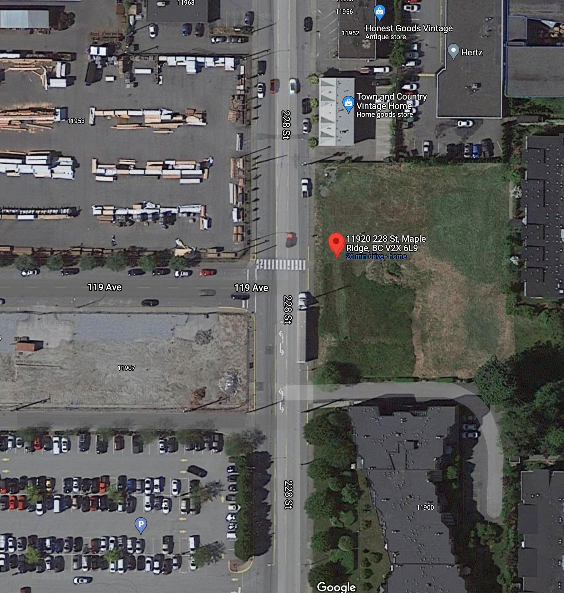 Main Photo: 11920 228 Street in Maple Ridge: East Central Land Commercial for sale : MLS®# C8040624