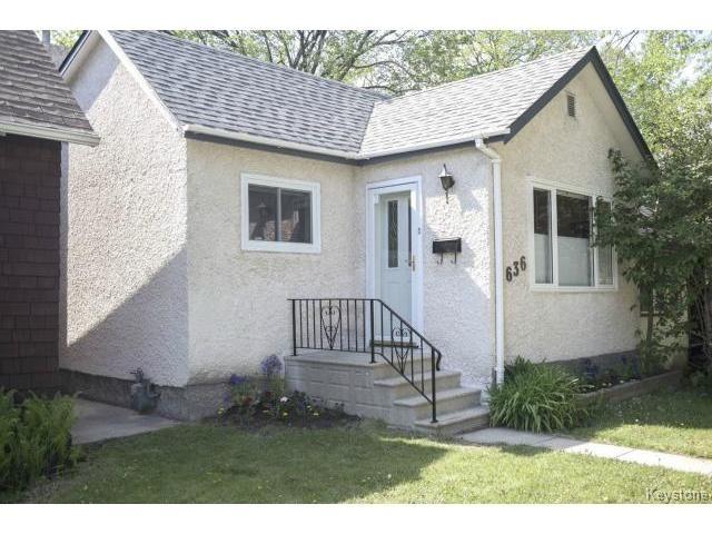 Main Photo: 636 Minto Street in WINNIPEG: West End / Wolseley Residential for sale (West Winnipeg)  : MLS®# 1513809