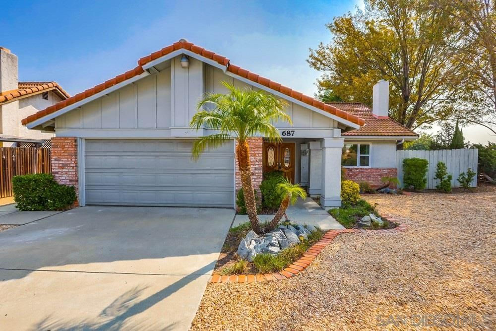 Main Photo: EL CAJON House for sale : 3 bedrooms : 687 Dewane Dr