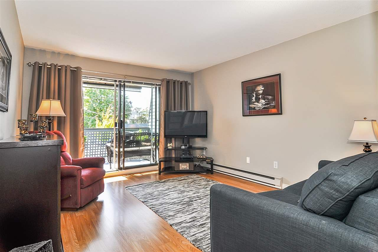 "Main Photo: 102 17661 58A Avenue in Surrey: Cloverdale BC Condo for sale in ""Wyndham Estates"" (Cloverdale)  : MLS®# R2483711"