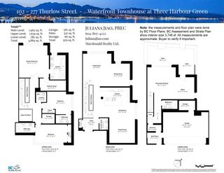"""Photo 39: 102 277 THURLOW Street in Vancouver: Coal Harbour Townhouse for sale in """"Three Harbour Green"""" (Vancouver West)  : MLS®# R2595080"""