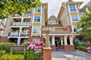 """Photo 1: #113 17712 57A Avenue in Surrey: Cloverdale BC Condo for sale in """"West on the Village Walk"""" (Cloverdale)  : MLS®# R2439030"""