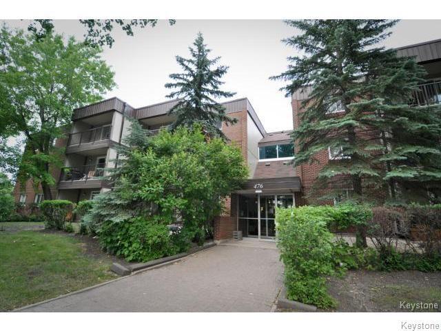 Main Photo: 476 Kenaston Boulevard in WINNIPEG: River Heights / Tuxedo / Linden Woods Condominium for sale (South Winnipeg)  : MLS®# 1403509