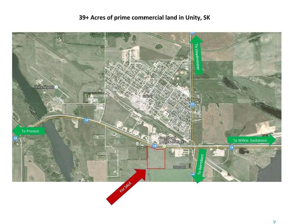 Main Photo: Prime Commercial Highway Land Development Site in Unity: Lot/Land for sale : MLS®# SK821817