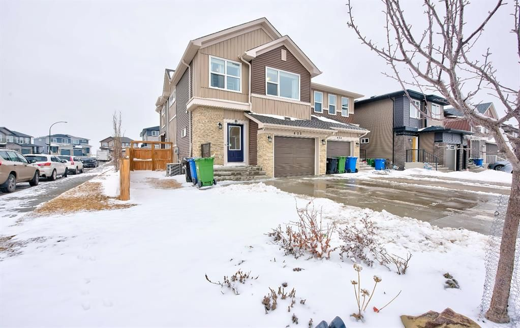 Main Photo: 405 Carringvue Avenue NW in Calgary: Carrington Semi Detached for sale : MLS®# A1087749