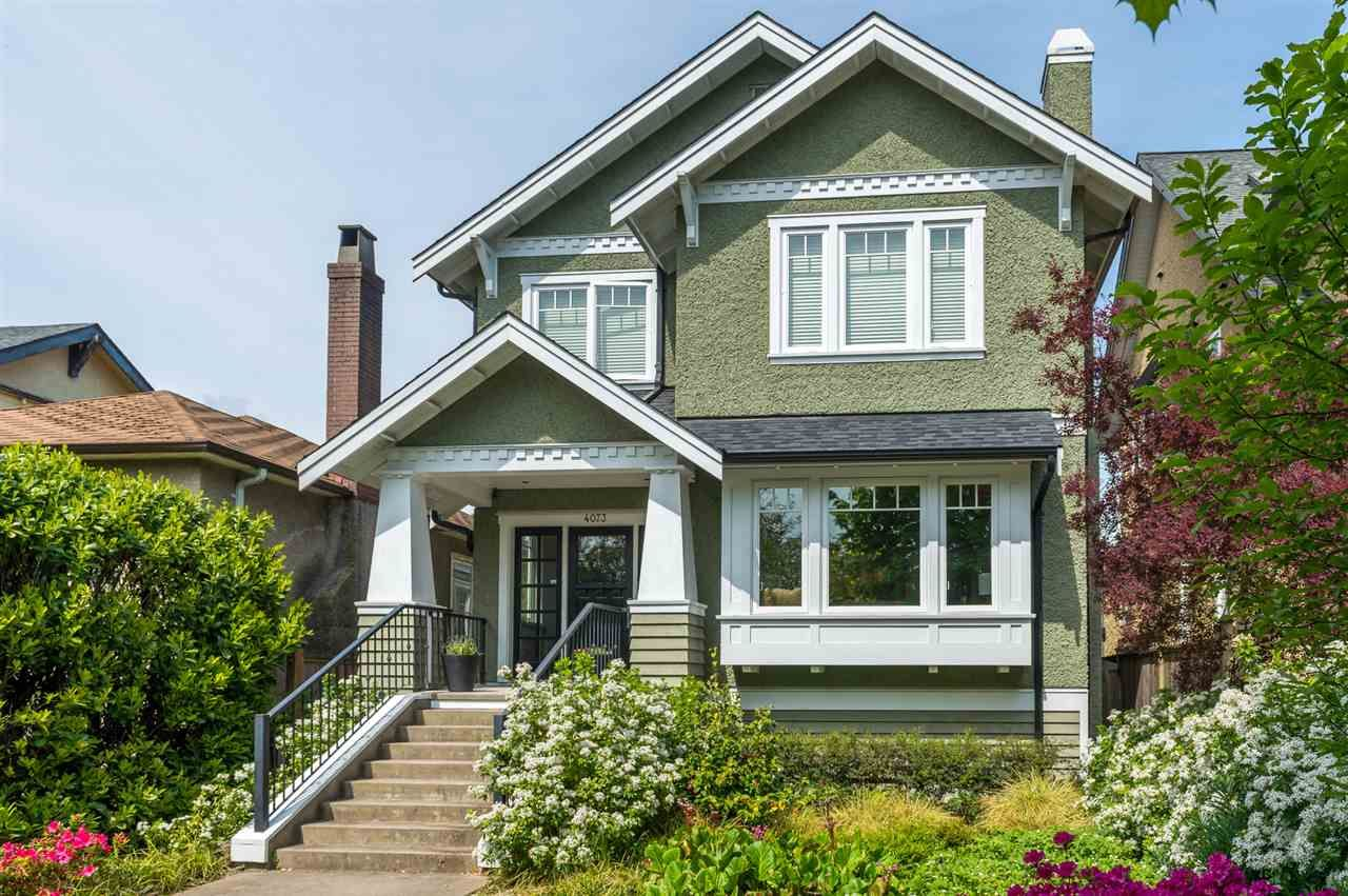 Main Photo: 4073 W 18TH AVENUE in : Dunbar House for sale (Vancouver West)  : MLS®# R2064363