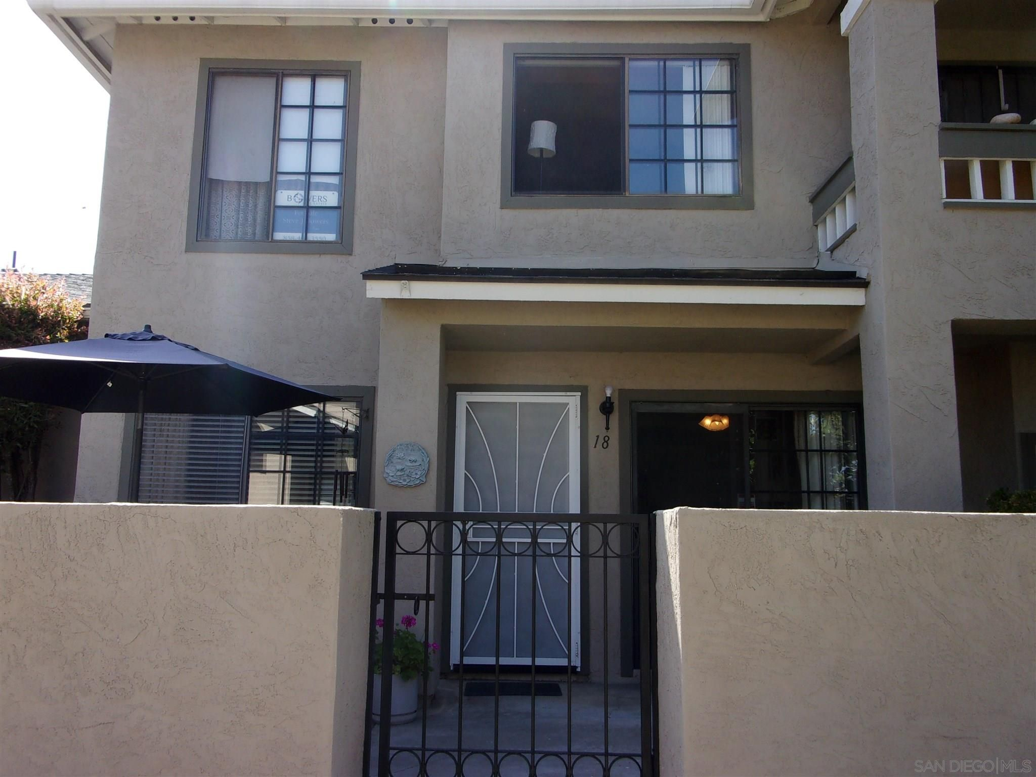 Main Photo: SANTEE Townhouse for sale : 2 bedrooms : 7955 Arly Ct #18