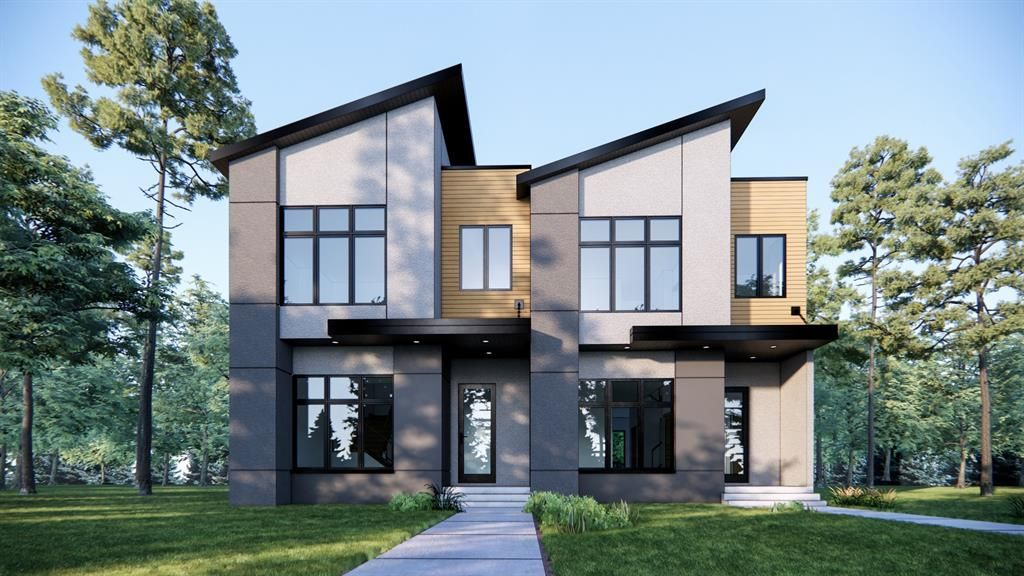 Property Renderings 7413 on Left & 7415 on the Right