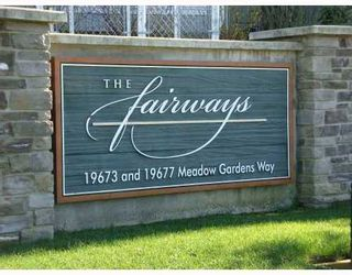 Photo 1: 104 19673 MEADOW GARDENS Way in The Fairways: North Meadows Home for sale ()  : MLS®# V811404