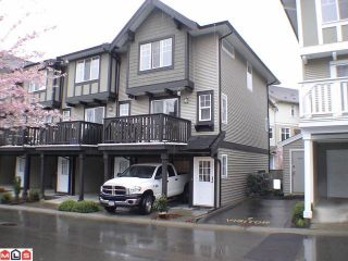 """Photo 1: 34 20176 68TH Avenue in Langley: Willoughby Heights Townhouse for sale in """"STEEPLECHASE"""" : MLS®# F1108181"""