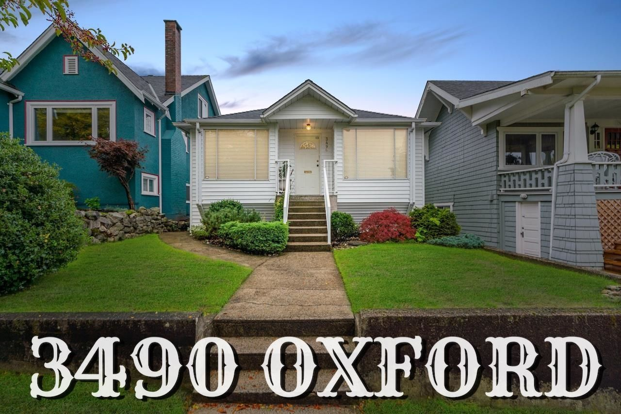 Main Photo: 3490 OXFORD Street in Vancouver: Hastings Sunrise House for sale (Vancouver East)  : MLS®# R2623373